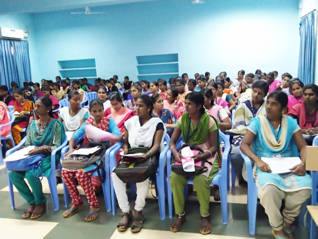SN College MAduraAdoloscent Girls Reproductive Health Awareness campaign